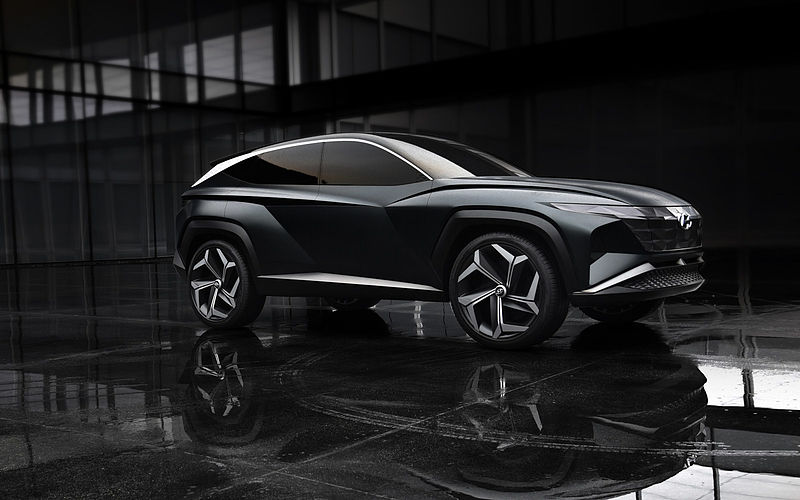 Hyundai enthüllt Vision T Plug-in-Hybrid SUV Konzept in Los Angeles